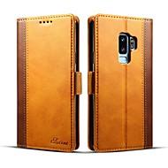 Недорогие Чехлы и кейсы для Galaxy S9 Plus-Кейс для Назначение SSamsung Galaxy S9 S9 Plus Бумажник для карт Кошелек Флип Чехол Однотонный Твердый Кожа PU для S9 Plus S9