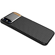Недорогие Кейсы для iPhone 8-Кейс для Назначение Apple iPhone X iPhone 8 Защита от удара со стендом Кейс на заднюю панель Однотонный Твердый Металл для iPhone X