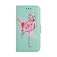 Недорогие Чехлы и кейсы для Galaxy S-Кейс для Назначение SSamsung Galaxy S9 S9 Plus Бумажник для карт Кошелек со стендом Флип С узором Чехол Фламинго Твердый Кожа PU для S9