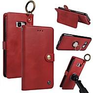 Недорогие Чехлы и кейсы для Galaxy S8-Кейс для Назначение SSamsung Galaxy S8 Plus S8 Бумажник для карт Кошелек Кольца-держатели Флип Магнитный Чехол Однотонный Твердый