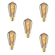 Χαμηλού Κόστους Λαμπτήρες πυράκτωσης-5pcs 40 W E26/E27 ST64 Θερμό Λευκό 2200-2700k κ Ρετρό Με ροοστάτη Διακοσμητικό Λαμπτήρας πυρακτώσεως Vintage Edison 220V-240V