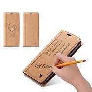 Недорогие Чехлы и кейсы для Galaxy S7 Edge-Кейс для Назначение SSamsung Galaxy S9 S9 Plus Бумажник для карт Кошелек Флип Своими руками Чехол Однотонный Твердый Кожа PU для S9 Plus