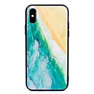 Недорогие Кейсы для iPhone 8-Кейс для Назначение Apple iPhone X iPhone 8 Plus С узором Кейс на заднюю панель Пейзаж Твердый Закаленное стекло для iPhone X iPhone 8