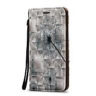 Недорогие Кейсы для iPhone 8 Plus-Кейс для Назначение Apple iPhone X / iPhone 8 Plus Кошелек / Бумажник для карт / Флип Чехол одуванчик Твердый Кожа PU для iPhone X / iPhone 8 Pluss / iPhone 8
