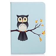 Недорогие Чехлы и кейсы для Samsung Tab-Кейс для Назначение SSamsung Galaxy Tab A 8.0 Бумажник для карт Кошелек со стендом С узором Авто Режим сна / Пробуждение Чехол Сова