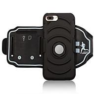 Недорогие Кейсы для iPhone 8 Plus-Кейс для Назначение Apple iPhone 8 Plus iPhone 7 Plus Спортивныеповязки Бумажник для карт Защита от удара С ремешком на руку Однотонный