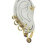 여성용 스터드 귀걸이 귀는 귀걸이 숙녀 패션 보석류 골드 제품 선물 데이트 4 개