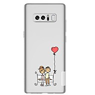Недорогие Чехлы и кейсы для Galaxy Note-Кейс для Назначение SSamsung Galaxy Note 8 Прозрачный С узором Кейс на заднюю панель Соблазнительная девушка Мягкий ТПУ для Note 8