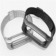 Недорогие Ремешки для часов Xiaomi-Ремешок для часов для Mi Band 2 Xiaomi Миланский ремешок Нержавеющая сталь Повязка на запястье