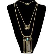 cheap -Women's Oversized Turquoise Pendant Necklace / Layered Necklace  -  Vintage / Fashion / Oversized Geometric Gold / Silver 34+6.5cm