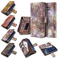 Недорогие Чехлы и кейсы для Galaxy S8-Кейс для Назначение SSamsung Galaxy S8 Plus S8 Бумажник для карт Кошелек Флип Чехол Однотонный Твердый Кожа PU для S8 Plus S8 S7 edge S7