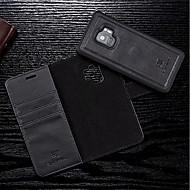 Недорогие Чехлы и кейсы для Galaxy S8-Кейс для Назначение SSamsung Galaxy S9 Plus / S9 Кошелек / Бумажник для карт / Флип Чехол Однотонный Твердый Кожа PU для S9 / S9 Plus /