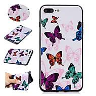 Недорогие Кейсы для iPhone 8 Plus-Кейс для Назначение Apple iPhone X / iPhone 8 С узором Кейс на заднюю панель Бабочка Мягкий ТПУ для iPhone X / iPhone 8 Pluss / iPhone 8
