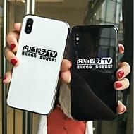 Недорогие Кейсы для iPhone 8-Кейс для Назначение Apple iPhone X / iPhone 8 Защита от удара / Покрытие Кейс на заднюю панель Слова / выражения Твердый Закаленное стекло