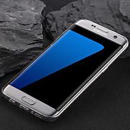 Недорогие Чехлы и кейсы для Galaxy S-Кейс для Назначение SSamsung Galaxy S7 edge Прозрачный Кейс на заднюю панель Однотонный Мягкий ТПУ для S7 edge