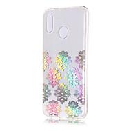 お買い得  携帯電話ケース-ケース 用途 Huawei P20 lite / P20 メッキ仕上げ / クリア / パターン バックカバー レース印刷 ソフト TPU のために Huawei P20 lite / Huawei P20 Pro / Huawei P20
