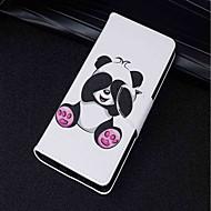 お買い得  携帯電話ケース-ケース 用途 Huawei P20 lite P20 カードホルダー ウォレット スタンド付き フリップ 磁石バックル フルボディーケース パンダ ハード PUレザー のために Huawei P20 lite Huawei P20 Pro Huawei P20