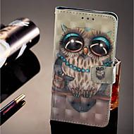 preiswerte Handyhüllen-Hülle Für Huawei Honor 9 Lite Kreditkartenfächer / Geldbeutel / mit Halterung Ganzkörper-Gehäuse Eule Hart PU-Leder für Huawei Honor 9