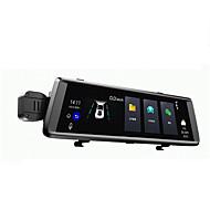 abordables DVR de Coche-V6 1080p Visión nocturna DVR del coche 150 Grados Gran angular 10.1 pulgada IPS Dash Cam con WIFI / GPS / G-Sensor Registrador de coche