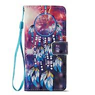 Недорогие Чехлы и кейсы для Galaxy A5(2017)-Кейс для Назначение SSamsung Galaxy A8 2018 A5(2017) Бумажник для карт Кошелек со стендом Флип Магнитный Чехол Ловец снов Твердый Кожа PU