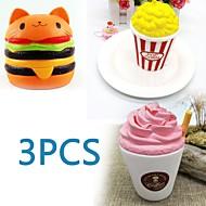 お買い得  -MINGYUAN ストレス解消グッズ ポップコーン / ハンバーガー / 創造的 親子インタラクション / 減圧玩具 / かわいい 3pcs フリーサイズ ギフト