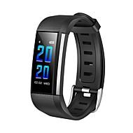 お買い得  -JSBP YY-CPM200 スマートブレスレット Android iOS ブルートゥース 防水 心拍計 血圧測定 タッチスクリーン 消費カロリー 歩数計 着信通知 アクティビティトラッカー 睡眠サイクル計測器 座りがちなリマインダー / 端末検索 / 目覚まし時計 / NRF52832 / カメラコントロール / 200〜250