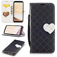 Недорогие Чехлы и кейсы для Galaxy S8-Кейс для Назначение SSamsung Galaxy S8 Кошелек / Бумажник для карт / со стендом Чехол С сердцем Твердый Кожа PU для S8