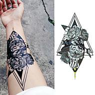 cheap Temporary Tattoos-3 pcs Tattoo Stickers Temporary Tattoos Flower Series / Romantic Series Body Arts Arm