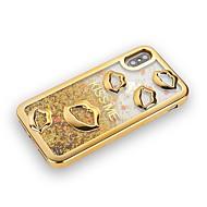 Недорогие Кейсы для iPhone 8 Plus-Кейс для Назначение Apple iPhone X / iPhone 8 Plus Покрытие / Движущаяся жидкость / Сияние и блеск Кейс на заднюю панель Сияние и блеск