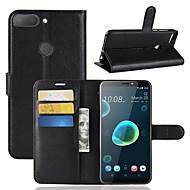 preiswerte Handyhüllen-Hülle Für HTC U11 / HTC Desire 12 Geldbeutel / Kreditkartenfächer / Flipbare Hülle Ganzkörper-Gehäuse Solide Hart PU-Leder für HTC U11