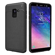 お買い得  -ケース 用途 Samsung Galaxy A8 2018 / A6 (2018) エンボス加工 バックカバー ソリッド ソフト TPU のために A6 (2018) / A6+ (2018) / A8 2018