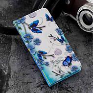 preiswerte Handyhüllen-Hülle Für Wiko WIKO Sunny 2 plus Geldbeutel / Kreditkartenfächer / mit Halterung Ganzkörper-Gehäuse Schmetterling Hart PU-Leder für Wiko View prime / Wiko Lenny 4 PLUS