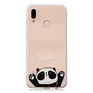 お買い得  携帯電話ケース-ケース 用途 Huawei P20 Pro / P10 Plus クリア / パターン バックカバー パンダ ソフト TPU のために Huawei P20 lite / Huawei P20 Pro / Huawei P20
