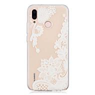 お買い得  携帯電話ケース-ケース 用途 Huawei P20 / P20 lite クリア / パターン バックカバー レース印刷 ソフト TPU のために Huawei P20 / Huawei P20 Pro / Huawei P20 lite