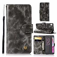 preiswerte Handyhüllen-Hülle Für Sony Xperia L1 Geldbeutel / Kreditkartenfächer / mit Halterung Ganzkörper-Gehäuse Solide Hart PU-Leder für Sony Xperia L1
