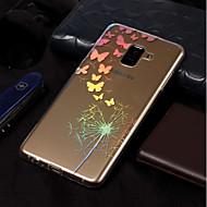 Недорогие Чехлы и кейсы для Galaxy А-Кейс для Назначение SSamsung Galaxy A8 2018 / A8 Plus 2018 Покрытие / С узором Кейс на заднюю панель Бабочка / одуванчик Мягкий ТПУ для