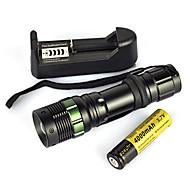 お買い得  フラッシュライト/ランタン/ライト-LED懐中電灯 ダイビング用懐中電灯 携帯式フラッシュライト LED LED エミッタ 900 lm 1 照明モード パータブル, プロフェッショナル, 耐久性 キャンプ / ハイキング / ケイビング, 狩猟 ブラック