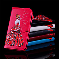 Недорогие Кейсы для iPhone 8-Кейс для Назначение Apple iPhone X / iPhone 8 Бумажник для карт / Кошелек / Флип Чехол Соблазнительная девушка Твердый Кожа PU для iPhone