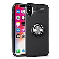 Недорогие Кейсы для iPhone 8-Кейс для Назначение Apple iPhone 8 / iPhone 8 Plus / iPhone 7 Plus Кольца-держатели Кейс на заднюю панель Однотонный Мягкий ТПУ для