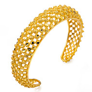 cheap -Women's Gold Plated Bangles / Cuff Bracelet - Metallic / Ethnic Circle Gold Bracelet For Party / Gift