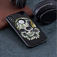 Недорогие Кейсы для iPhone 8-Кейс для Назначение Apple iPhone X / iPhone 8 Защита от удара / Рельефный / С узором Кейс на заднюю панель Черепа Твердый ПК для iPhone X