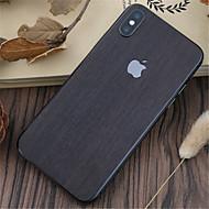 Недорогие Защитные плёнки для экрана iPhone-1 ед. Наклейки для iPhone X Защита от царапин Имитация дерева Узор PVC iPhone X