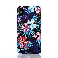 Недорогие Кейсы для iPhone 8-Кейс для Назначение Apple iPhone X / iPhone 8 С узором Кейс на заднюю панель Цветы Твердый ПК для iPhone X / iPhone 8 Pluss / iPhone 8