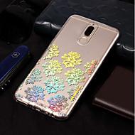 お買い得  携帯電話ケース-ケース 用途 Huawei Mate 10 lite / Mate 10 pro メッキ仕上げ / パターン バックカバー レース印刷 ソフト TPU のために Mate 10 lite / Mate 10 pro / Mate 10