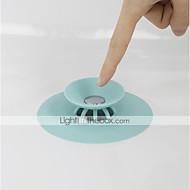abordables Artículos para el Hogar-Tapón de desagüe de la ducha Desagüe del piso Conector de silicona del círculo de goma para el enchufe de la bañera de la ducha Desagüe a prueba de fugas del baño