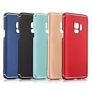Недорогие Чехлы и кейсы для Galaxy S9 Plus-Кейс для Назначение SSamsung Galaxy S9 / S9 Plus Матовое Кейс на заднюю панель Однотонный Твердый ПК для S9 Plus / S9 / S8 Plus