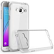 abordables Galaxy J3 Carcasas / Fundas-Funda Para Samsung Galaxy J3 (2016) Transparente Funda Trasera Un Color Suave TPU para J3