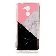 お買い得  携帯電話ケース-ケース 用途 Huawei Enjoy 6A パターン フルボディーケース マーブル ソフト TPU のために Huawei Enjoy 6s