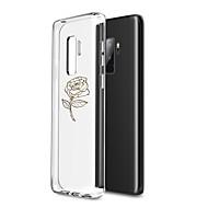 Недорогие Чехлы и кейсы для Galaxy Note-Кейс для Назначение SSamsung Galaxy Note 8 Прозрачный / С узором Кейс на заднюю панель Цветы Мягкий ТПУ для Note 8