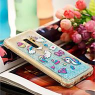 Недорогие Чехлы и кейсы для Galaxy S9 Plus-Кейс для Назначение SSamsung Galaxy S9 Plus / S9 Защита от удара / Движущаяся жидкость / С узором Кейс на заднюю панель единорогом Мягкий